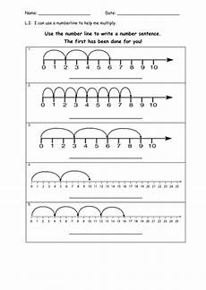 multiplication worksheets number line 4486 multiplication using a numberline teaching resources