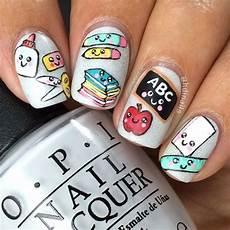 37 super cute back to school nail art designs be modish
