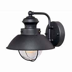cascadia lighting nautical 8 in h textured black outdoor