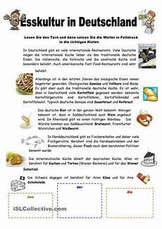 esskultur in deutschland german language study german