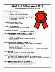 2013 red ribbon week see flyer for activities sponsored by peer counseling and ptsa school