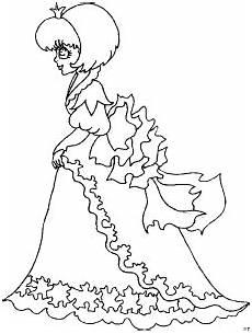 Ausmalbild Prinzessin Kleid Prinzessin Mit Kleid Ausmalbild Malvorlage Phantasie