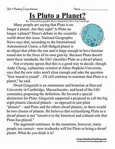 poetry comprehension worksheets for 6th grade 25247 reading comprehension worksheet is pluto a planet reading comprehension reading