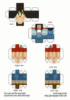 papercraft minecraft story mode all skin
