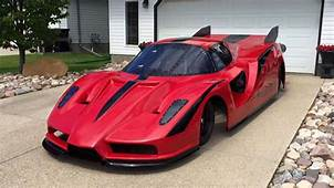 Check Out This Jet Powered Homemade Ferrari Enzo