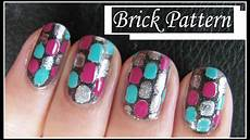 nails muster easy brick pattern nail design free nails