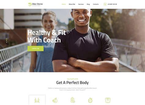 alex stone v1 1 personal gym trainer wordpress theme