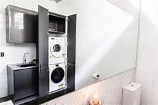 Trockner Waschmaschine Badezimmer Schrank Integriert Grau