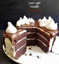 Layer Cake Vanille Chocolat Facile