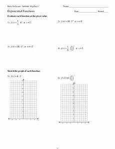 exponential functions worksheet for 9th 12th grade lesson planet