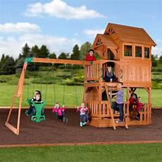 swing sets liberty ii wooden swing set playsets backyard discovery
