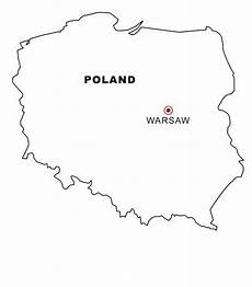 Malvorlagen Poland Poland Map Coloring Coloring Pages