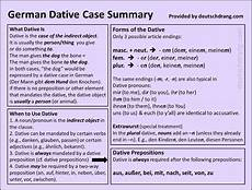 german dative study teaching materials for dative