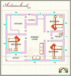 three bedroom house plan in kerala 760 square feet 3 bedroom house plan architecture kerala