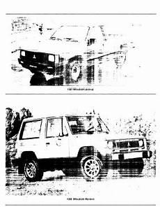auto repair manual free download 1988 mitsubishi chariot windshield wipe control repair manuals mitsubishi montero 1988 repair manual