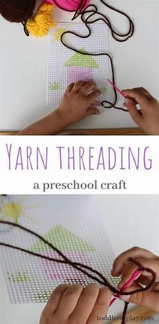 worksheets for preschool 15422 yarn threading activity toddler at play activities nel 2020 con immagini infanzia scuola
