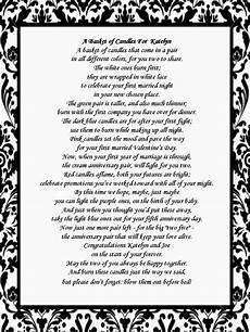 Candle Wedding Gift Poem
