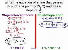point slope form micaela dougan