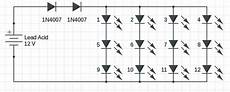 1w to 5w led driver circuit with 12v input circuits diy