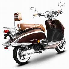 motorroller retro roller 125 ccm 90 kmh braun bestes