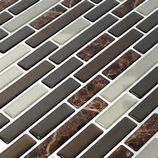 vinyl mosaik fliesen braun mix marmoriert ds33390