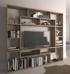 shelving unit bookcase display storage wood shelf tv unit