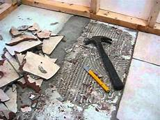 removing ceramic tile from concrete youtube