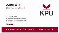 business card template for college students how to order student business cards kpu ca kwantlen