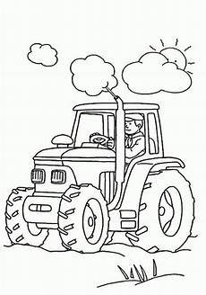 kindergarten coloring pages and worksheets tractor