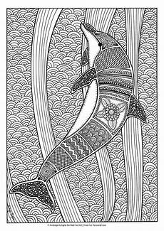 free colouring pages for grown ups dolphins dolphin