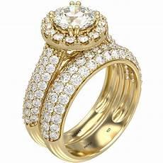 halo design 925 sterling silver 18k gold tone wedding ring