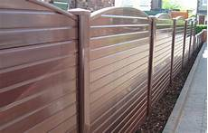 Gartenzaun Kunststoff Braun - brown upvc plastic fence panel cocklestorm fencing