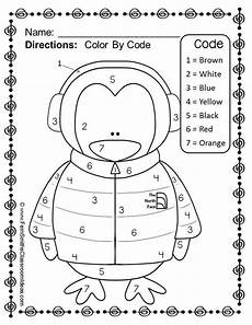 winter themed worksheets pre k 20105 color by numbers winter your numbers worksheet freebie homework to work with kaleb on