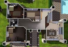 modern house plans sims 3 modern house floor plans sims 3 unique house plans