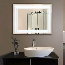 led bathroom wall mirror illuminated lighted vanity mirror with touch button ebay