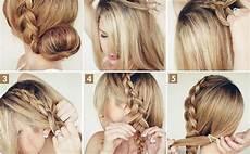 how to make the big braided bun elegant hairstyle