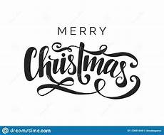 merry christmas vector lettering handwritten typography template black letters white