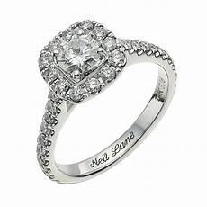 neil 14ct white gold 1 16ct diamond cluster ring