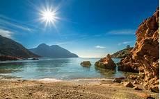 frankreich korsika k 252 ste strand meer berge sonne
