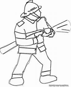 feuerwehrmann gratis ausmalbild