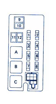 1993 Toyotum Camry Engine Fuse Box Diagram by Toyota 4runner 2wd 4 Cyl 1992 Relay Fuse Box Block Circuit