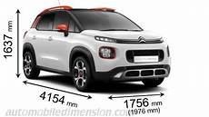 dimension c3 aircross citroen c3 aircross 2018 dimensions boot space and interior