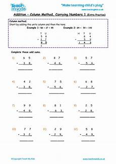 addition worksheets with no carrying 9649 addition traditional carrying method 1 practise tmk education
