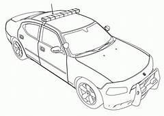 Police Car Coloring Pages To Print  Home