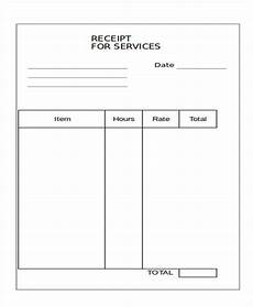 11 blank receipt templates exles in word pdf