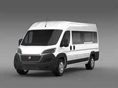 fiat ducato maxi minibus 2015 3d model max obj 3ds fbx c4d