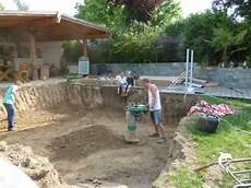 pool selber bauen how to build a pool part one teil