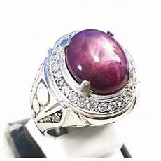 batu akik pemata ruby web batu permata jual cincin batu akik permata natural ruby star johnshon ring alpaka super mewah