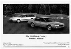 car manuals free online 1994 buick century user handbook 1994 buick century problems online manuals and repair information