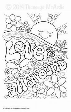 Mandala Malvorlagen Quotes Flower Power Coloring Page By Thaneeya Mcardle Color